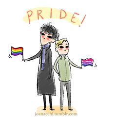 "joanacchi: "" Pride Month is almost over so here is some Johnlock positivity!"