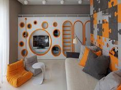 Modern Boys Room TV Set Cool Room Designs For Guys