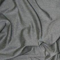 John Kaldor Isabella Wool Mix Jersey Fabric. Gun Metal. 170cm Wide.