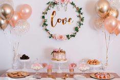 Bridal Shower Decorations 679339925027016489 - DIY Shower Pink White & Gold # AzlinPhotography – Dekor Ideen DIY Shower Pink White & Gold # AzlinPhotography – Source by Simple Bridal Shower, Bridal Shower Tables, White Bridal Shower, Gold Bridal Showers, Bridal Shower Party, Bridal Shower Rustic, Bridal Shower Balloons, Bride Shower, Themed Bridal Showers