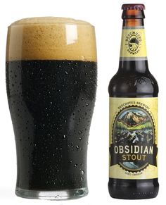 Obsidian Stout, 6.4%, Deschutes Brewery, Bend, Oregon. Obsidian incorporates a touch of espresso along with chocolatey roasted barley. It was named the World's Best Dry Stout at the World Beer Awards last year. If you can get your hands on this any time of year, definitely try it.