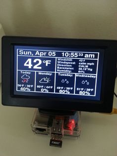 """This Instructable will show you how to build a really cool Raspberry Pi Internet-based weather station. Actually, to call this build a """"weather station"""". Pi Computer, Computer Projects, Electronics Projects, Computer Specs, Diy Tech, Cool Tech, Raspberry Projects, Rasberry Pi, Weather Data"""