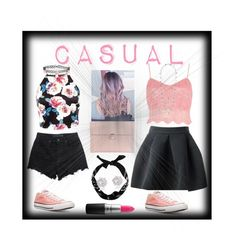 """""""Casual 🔐💘"""" by thestylemaker on Polyvore featuring Alexander Wang, Converse, River Island, MAC Cosmetics, Alexander McQueen, New Look, Lucky Brand and Accessorize"""