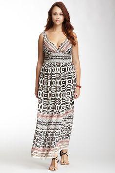 44f4c5b8086 Angie Sleeveless Maxi Dress by Angie on  HauteLook Curvy Girl Fashion