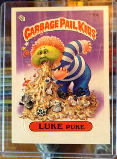 1986 Topps Garbage Pail Kids Trading Card 170b by LEATHERGLACIER, $2.00