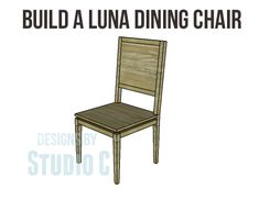 Build a Luna Dining Chair - The perfect companion to the Luna Dining Table!