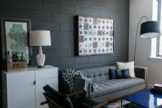 Image result for painted cinder block wall ideas