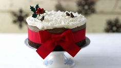 Christmas cake with pecan marzipan (I like the sounds of that!!) and brandy butter icing - BBC Food