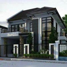 Ideas Modern Contemporary House Exterior Philippines For 2019 Architecture Classique, Architecture Design, Modern House Plans, Modern House Design, Modern Zen House, 3 Storey House Design, Philippines House Design, Philippine Houses, Storey Homes