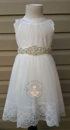 vintage white flower girl dress, baby dress, vintage flower girl dress, lace dress, cream flower girl dress, champagne flower girl dress by Theprincessandthebou on Etsy https://www.etsy.com/listing/267396936/vintage-white-flower-girl-dress-baby