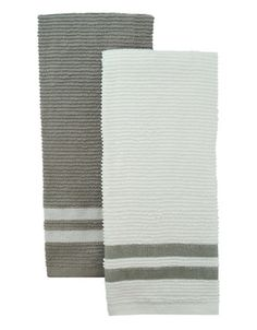 Set of 2 Terry Ribbed Towels | Hudson's Bay