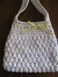 Girls Crochet Purse by MamawsCraftRoom on Etsy, $8.00