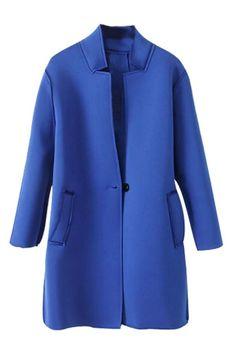 Elegant Ont-Button Woolen Coat