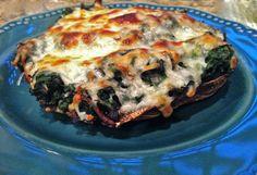 Cookin' in Heels: Cheesy Spinach Stuffed Portobello Mushrooms
