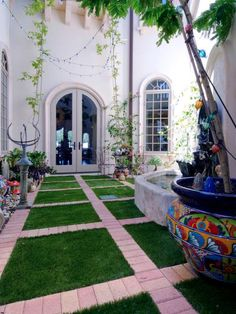 Artificial Grass Design Options   Landscaping Ideas and Hardscape Design   HGTV