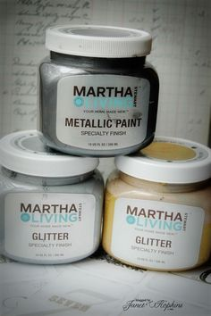 Martha Stewart Metallic Paint   These Are At Home Depot