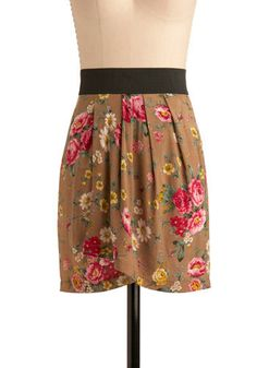 Floral print skirt Modcloth $29.99