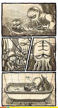 #Cthulhu fierce sea monster...