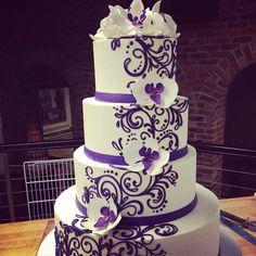 Gorgeous buttercream wedding cake by the white flower cake shoppe