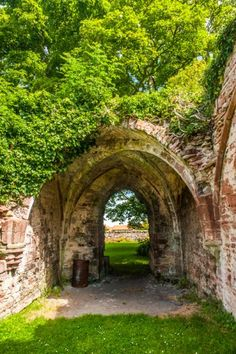 The vaulted slype passage, Lyndores Abbey, Scotland. James IV commanded Friar John Cor of Lindores to make 580 kg of aquavitae (water of life) another name for whiskey. It was the first batch of whiskey recorded in 1495