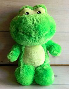 A48 Build A Bear Croaking Frog Plush! 16 Inch Lovey Stuffed Toy #BuildABearWorkshop #Christmas Olaf Snowman, Bear Girl, Blue Wings, Friend Outfits, Build A Bear, Stuffed Toy, Girl Scouts, Reindeer, Dinosaur Stuffed Animal