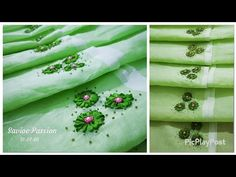 Simple & Elegant Saree Design || Hand Embroidery || Tutorial || Easy to Learn - YouTube Everything Cross Stitch, Saree Embroidery Design, Anchor Threads, Creative Arts And Crafts, Hand Embroidery Tutorial, Elegant Saree, Modern Cross Stitch Patterns, The Creator, Ribbon