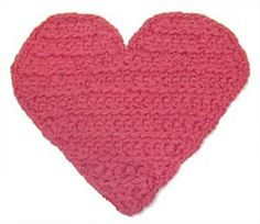 Free pattern  Ravelry: Heart Potholder (crochet) pattern by Lion Brand Yarn
