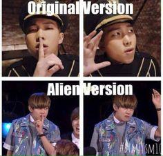 bts meme kpop army btsarmy kpopmeme kpopmemes kpopexlikes KpopIdols lfl fff btsmeme kpoper alien tae taehyung v namjoon rm joon jimin jiminie kimtaehyung vbts korea 2ne1, Rap Monster, Memes Bts Español, Bts Memes Hilarious, Got7, Jimin, Bts Bangtan Boy, Super Junior, Seokjin