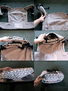 How to fold a soft structured carrier. I tried explaining this before and failed. Yay for pictures!