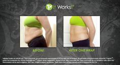 Belly success with one wrap.  A full treatment is a box of 4.