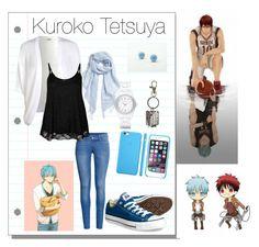 """Kuroko Tetsuya Style- Kuroko no basket (anime)"" by haro-anime ❤ liked on Polyvore featuring Converse, H&M, Miss Selfridge, Halogen, DKNY, women's clothing, women's fashion, women, female and woman"