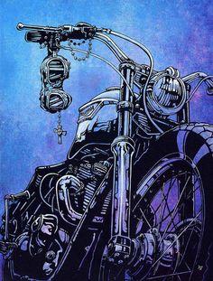 Triumph Blues http://goo.gl/Y0t6c8 #Art #Motorcycle #Triumph