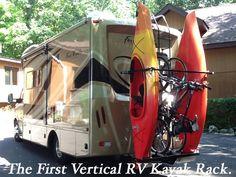 WELCOME TO RVKAYAKRACKS.COM - THE FIRST VERTICAL RV KAYAK RACK - YAKUPS ™ brand WHY LEAVE FUN BEHIND™