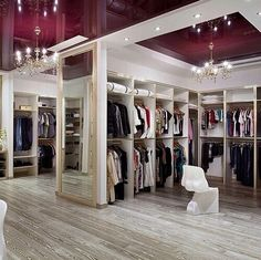 Large his & her's walk-in closet