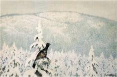 Kittelsen-057 - Det snöar och det snöar 1903