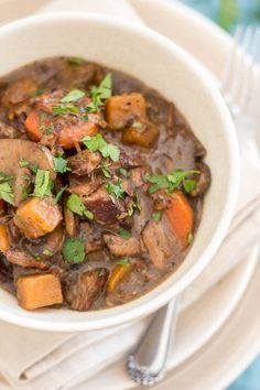 Slow Cooker Squeaky Clean Boeuf Bourgignon