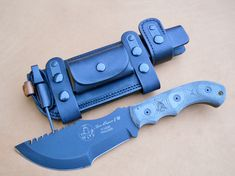 Lobo Quick Release System- Horizontal Carry – TOPS Tom Brown Tracker TBT-010 (SHEATH1) » RMB Custom Leather