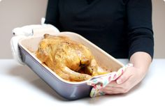 Pollo de corral aromatizado y al horno | Velocidad Cuchara