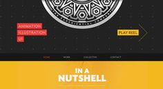 Web Design Inspiration: blocking behind text / black / mustard yellow / texture | the experiential company