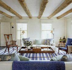 rustic wood beams beach house - Google Search