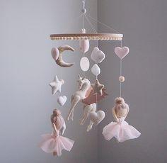 Ballerina mobile - Ballet mobile - Unicorn - baby mobile girl - hanging mobile - nursery mobile - mo