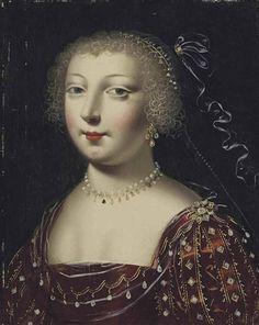 Artwork by Claude Deruet (1588-1662), Portrait de femme à la robe pourpre