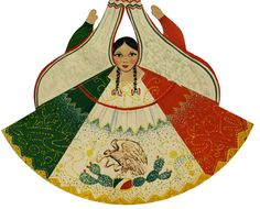 In the Labyrinth: Trajes Tipicos Mexicanos: Vintage Mexican Paper Dolls