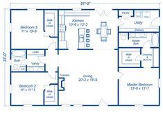 Metal Homes Floor Plans, Metal Building House Plans, Steel Building Homes, Pole Barn House Plans, Craftsman House Plans, New House Plans, Small House Plans, House Floor Plans, Metal Floor