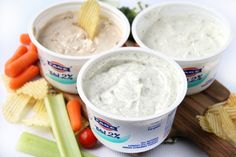 2-Ingredient Greek Yogurt Veggie Dips
