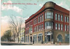 Middleboro MA Bank Building South Main Street Fine DB VG