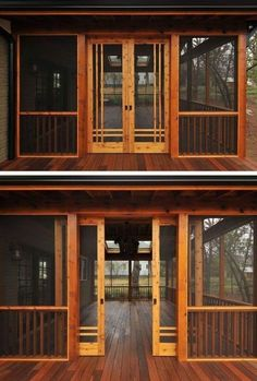 Interesting Sliding Porch Doors 28 Ideas for sliding barn door exterior screened porches sliding Screened Porch Doors, Screened Porch Designs, Screened In Deck, Front Porch, Porch And Patio, Back Porch Designs, Slide Screen, Living Pool, Traditional Porch