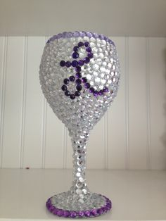 Wine Glass and rhinestones