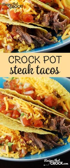 Change up taco night with these delicious beef recipe – Crock Pot Steak Tacos for dinner! Change up taco night with these delicious beef recipe – Crock Pot Steak Tacos for dinner! Crock Pot Tacos, Crock Pot Slow Cooker, Crock Pot Cooking, Slow Cooker Recipes, Beef Recipes, Mexican Food Recipes, Cooking Recipes, Crock Pot Steak, Crockpot Steak Recipes