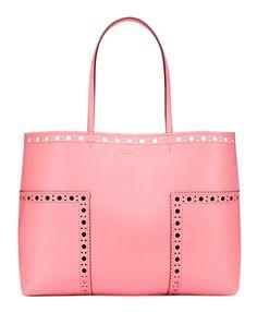 f21b61fe7a3d Tory Burch Block-T Brogue Tote Beautiful Bags